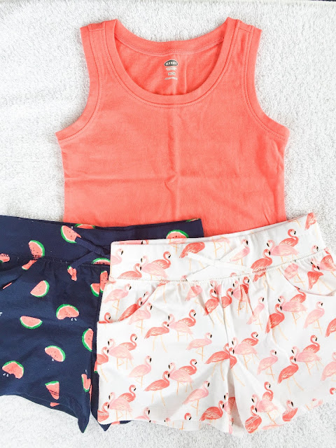 Cute girls clothes from Old Navy. Flamingos & Watermelon style for summer!