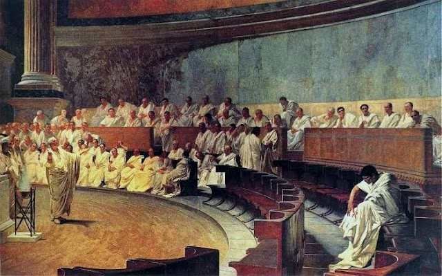 Sobre as Catilinárias de Cícero, talvez o discurso mais eloquente da humanidade
