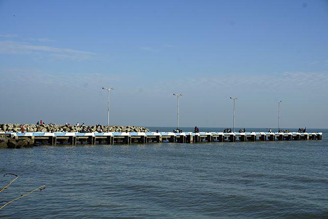 Pelabuhan Rembang tampak dari kejauhan
