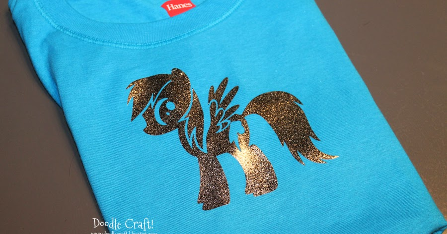 Doodlecraft My Little Pony Rainbow Dash Silhouette T Shirt