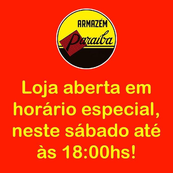 Paraíba de Chapadinha informa que funcionará em Horário Especial neste Sábado