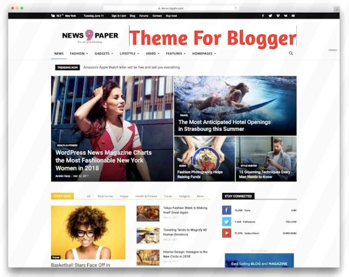Newspaper 9 Blogger Template - GujjuAdvice