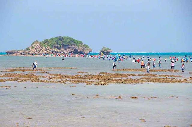 festival, procession, people, Henza, island, Sanguacha, sea, Okinawa