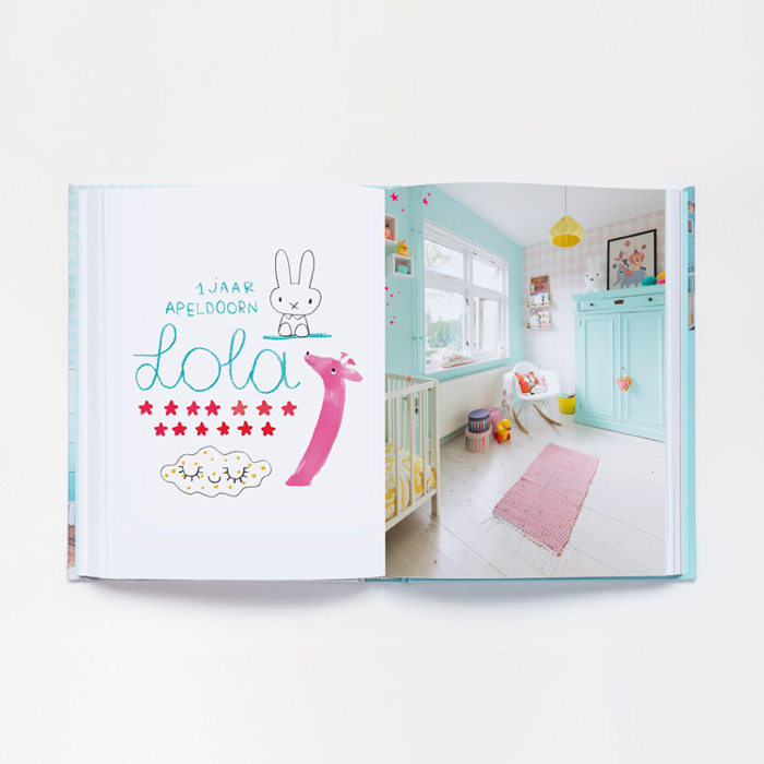 "room of Lola 1 year old from  "" Mini Woonboek""   book about children's rooms"