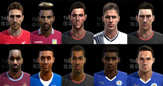 Faces: Allen, Daniels, Damarai Gray, Elphick, Eric Dier, Galloway, Grabban, Jordan Amavi, Matty James, Michail Antonio, Pes 2013