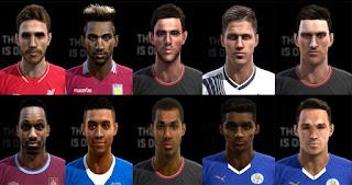 Faces: Allen, Daniels, Damarai Gray, Elphick, Eric Dier, Galloway, Grabban, Jordan Amavi, Matty James, Michail Antonio, Pes 2013