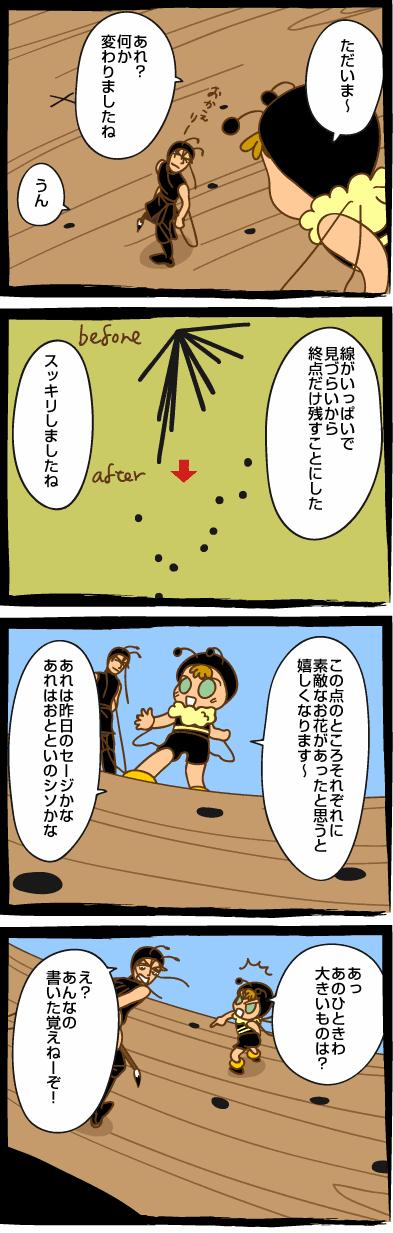 みつばち漫画みつばちさん:64. 花地図