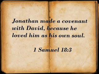 Bible Verse about friendship of David and Jonathan, regarding David and Goliath story