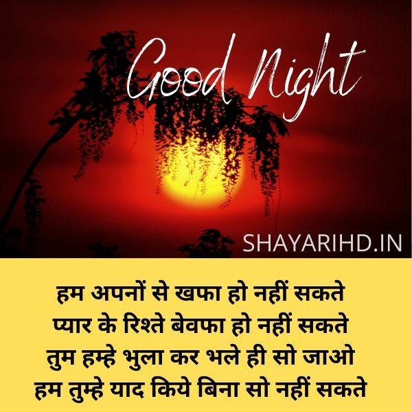 Good Night Shayari for BF in Hindi