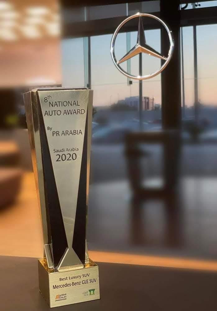 سيارة الدفع الرباعي الفاخرة GLE من مرسيدس – بنز تحصد الجائزة الوطنية الثامنة