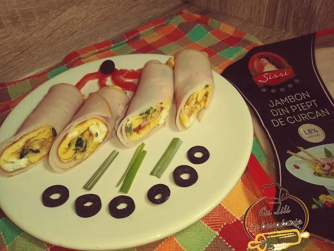 Rulouri de sunca Sissi cu omleta