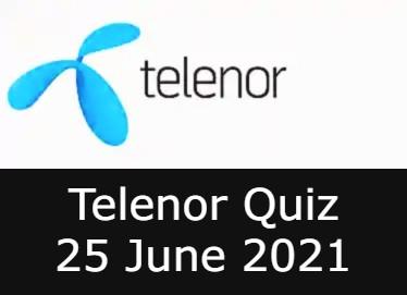 Telenor Answers 25 June 2021