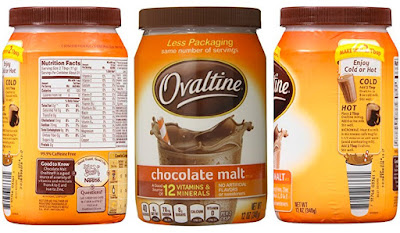 Breakfast Chocolate Malt Drink - Ovaltine Beverage by Nestle - Grocery