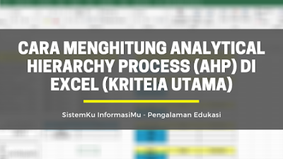 Menghitung Analytical Hierarchy Process