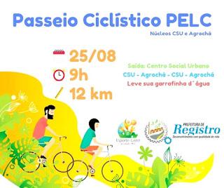 Passeio Ciclístico PELC em Registro-SP