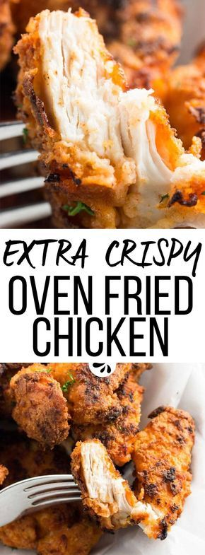 Extra Crispy Oven Fried Chicken