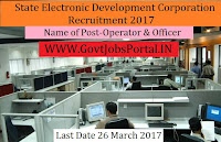 State Electronic Development Corporation Recruitment 2017– Officer & Operator