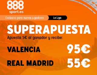 888sport superapuesta liga Valencia vs Real Madrid 15 diciembre 2019