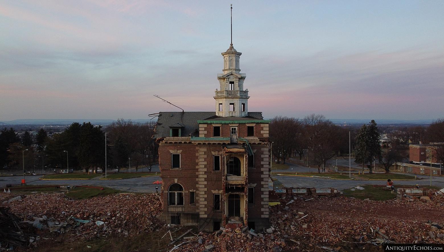 Allentown State Hospital - Demolition - Rear of Admin