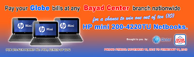 Globe & Bayad Center Promo – Win HP mini 200-4220TU Netbook