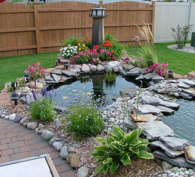 Enjoy your backyard paradise with a perfect pond
