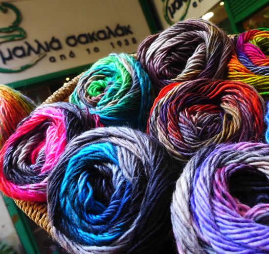 Mallia Sakalak, wool shop Athens (photo by Mallia Sakalak) | Happy in Red