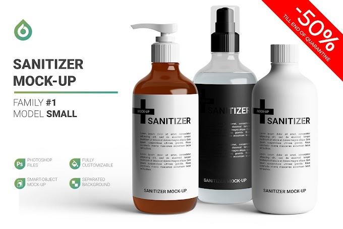 Sanitizer Bottle Mockup 4803089
