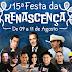 15ª Festa da Renascença em Pesqueira, confira programação