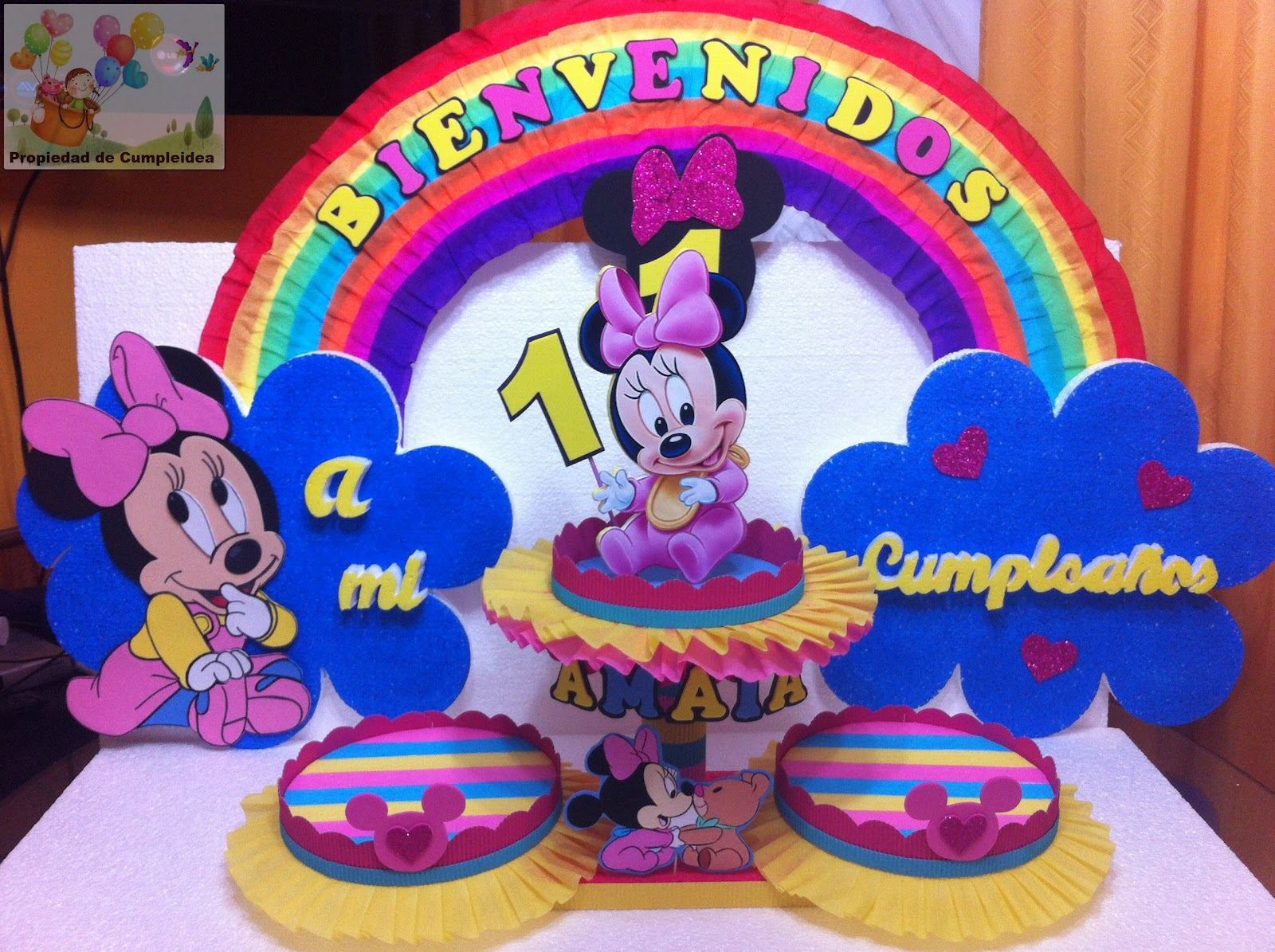 Decoraciones infantiles minnie mouse bebe - Decoraciones para bebes ...