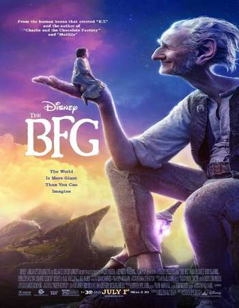 Poster Of The BFG 2016 Hindi ORG Dual Audio 170MB BRRip HEVC Mobile ESubs Free Download Watch Online downloadhub.net