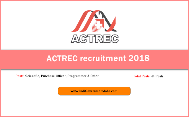 ACTREC recruitment 2018