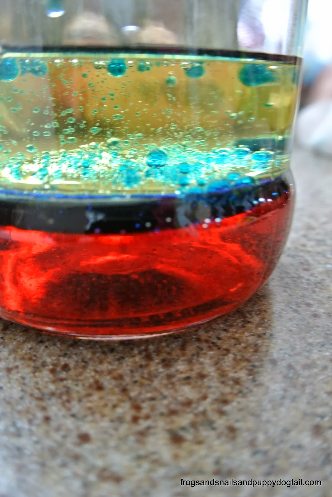 Liquid Density Science Experiment