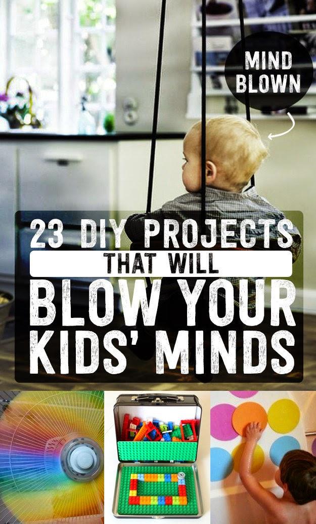 """20 projetos do tipo """"faça você mesmo"""" que deixarão seus filhos felizes"""