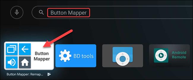 """ابحث عن """"Button Mapper"""" ، ثم حدده عند ظهوره."""