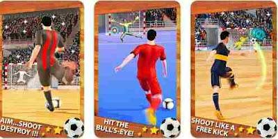 Menembak Gool Futsal Sepakbola