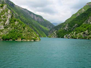 Beautiful Lake Koman Fjords Albania