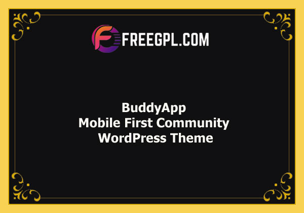 BuddyApp – Mobile First Community WordPress Theme Nulled Download Free
