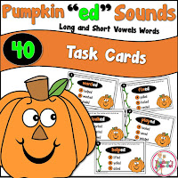 Pumpkin ED Sounds Task Cards