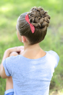cute braided updo bun