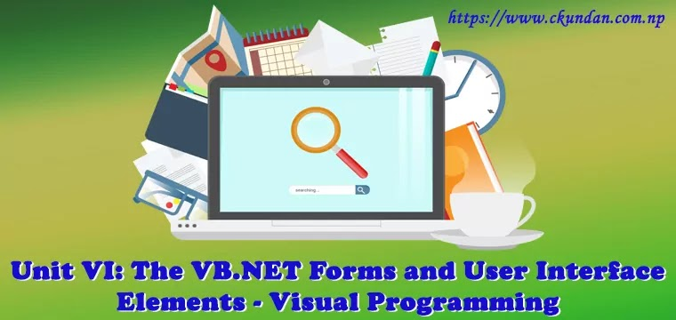 The VB.NET Forms and User Interface Elements – Visual Programming