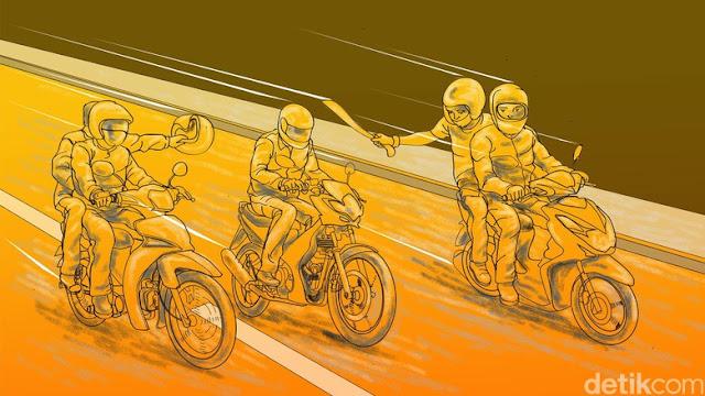 Begal Brutal Putuskan Jari Pemuda Bandung