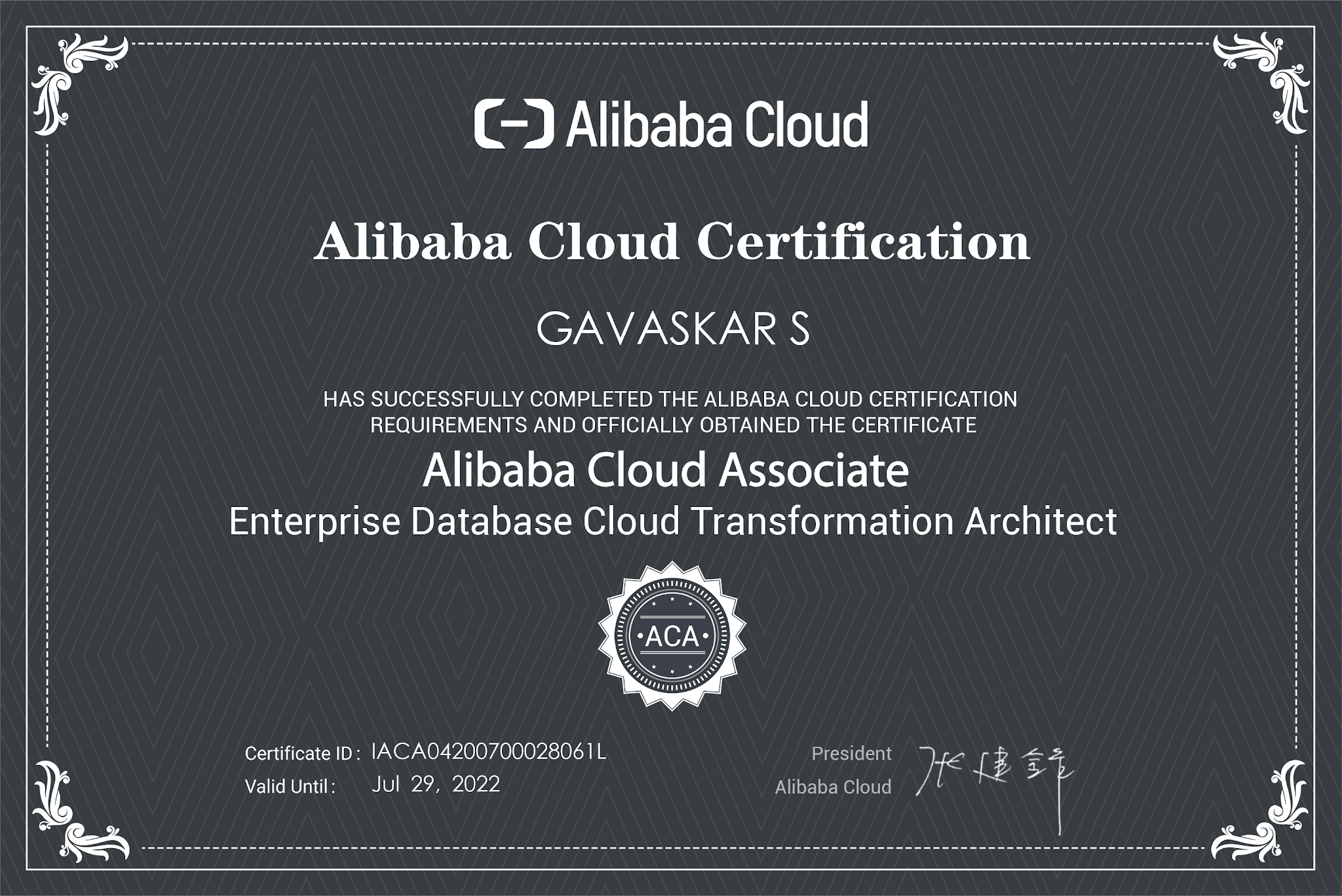 aca certification enterprise