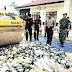 Bupati dan Kapolres Sarolangun Musnahkan 1077 Botol Miras