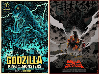 Mondo's Godzilla Screen Print Release #4 by Francesco Francavilla, Shan Jiang, Paul Mann & Attack Peter