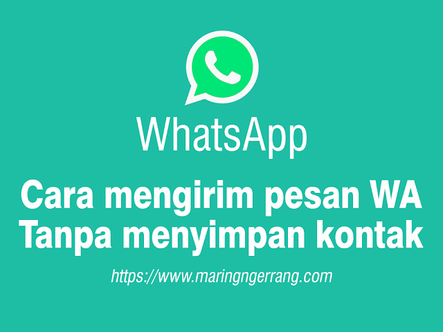 Mengirim WhatsApp Tanpa Menyimpan Nomor Kontak Penerima