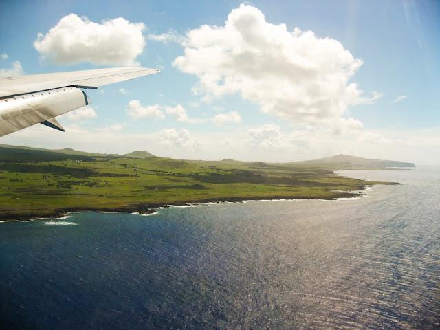 Viagem de avião para a Ilha de Páscoa