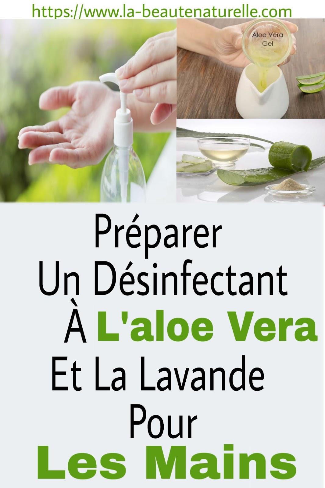 Préparer Un Désinfectant À L'aloe Vera Et La Lavande Pour Les Mains