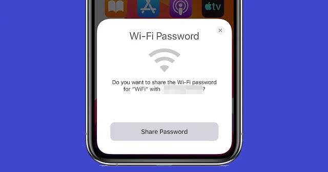 أسرع طريقة لمشاركة كلمة مرور الواي فاي في نظام iOS