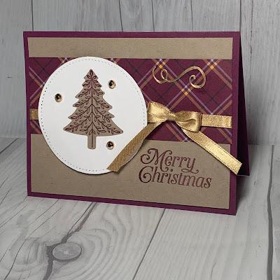 Christmas Tree Christmas Card idea using Perfectly Plaid Stamp Set