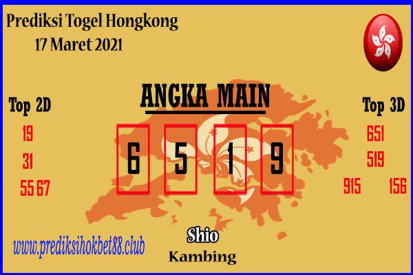 Bocoran Hongkong 17 Maret 2021